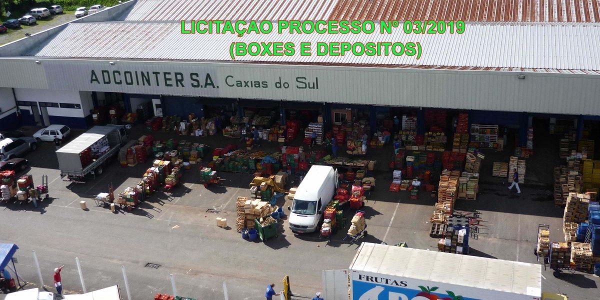 Pavilhão Permanente (Atacadistas), local das áreas de box e depósitos a serem licitados.